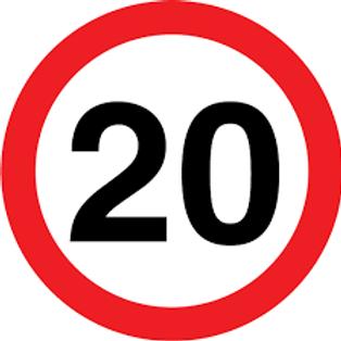 Speed Limit - 20 Sign