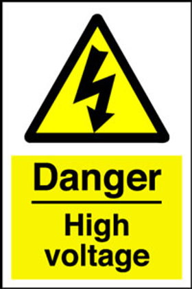 Danger High Voltage Sign/Sticker