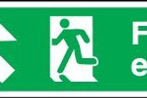 Fire Exit (Arrow Up-Right) Sign