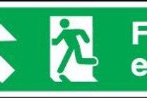 Fire Exit (Arrow Up-Left) Sign
