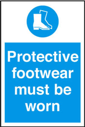 Protective Footwear Must Be Worn Sign/Sticker