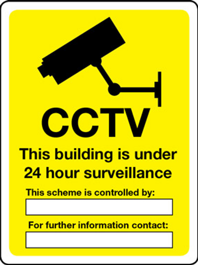 CCTV 24 Hour Surveillance Controlled By and Contact