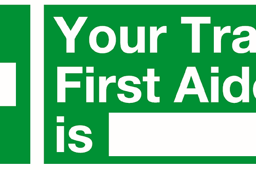 First Aider Sign/Sticker