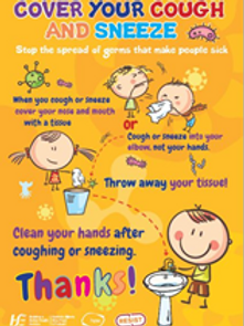 Cover your Cough Covid 19 Sign (School and Child special)
