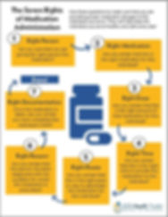 """Poster screenshot: """"The Seven Rights of Medication Administration"""""""
