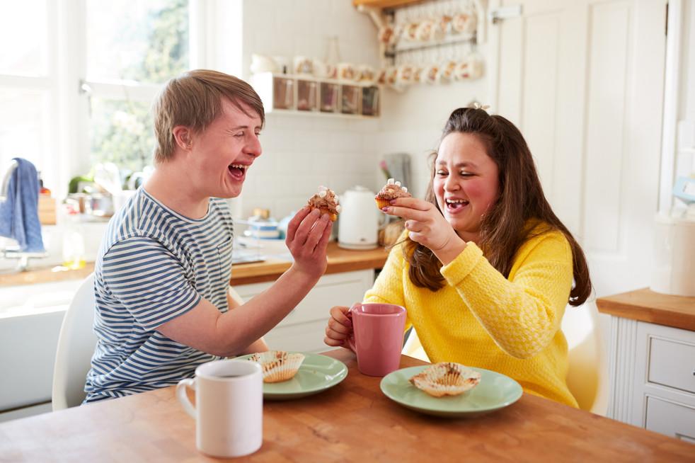 Friends having tea together