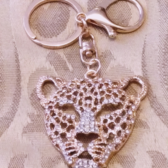 Golden Cheetah with Clear Sparkles