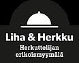 Liha&Herkku_logo_taustalla_slogan_BLACK_
