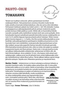 Tomahawk paisto-ohje