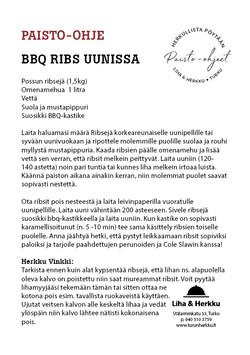 BBQ Ribs uunissa