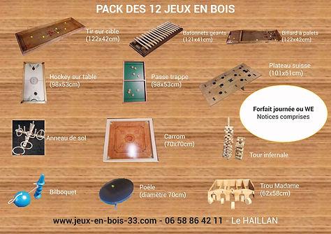 Pack de 12 jeux en bois 1