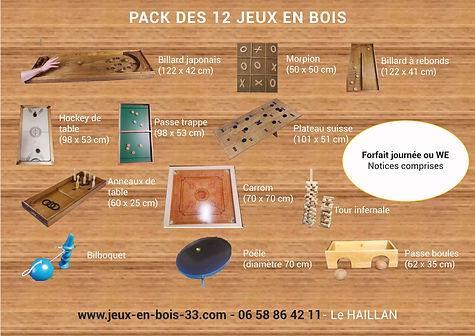Pack de 12 jeux en bois 2