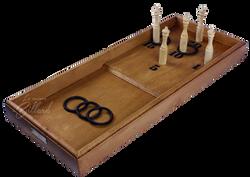 Anneaux quilles sur table