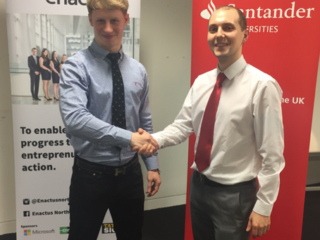 Enactus Northumbria Sign On Santander As A Business Advisor