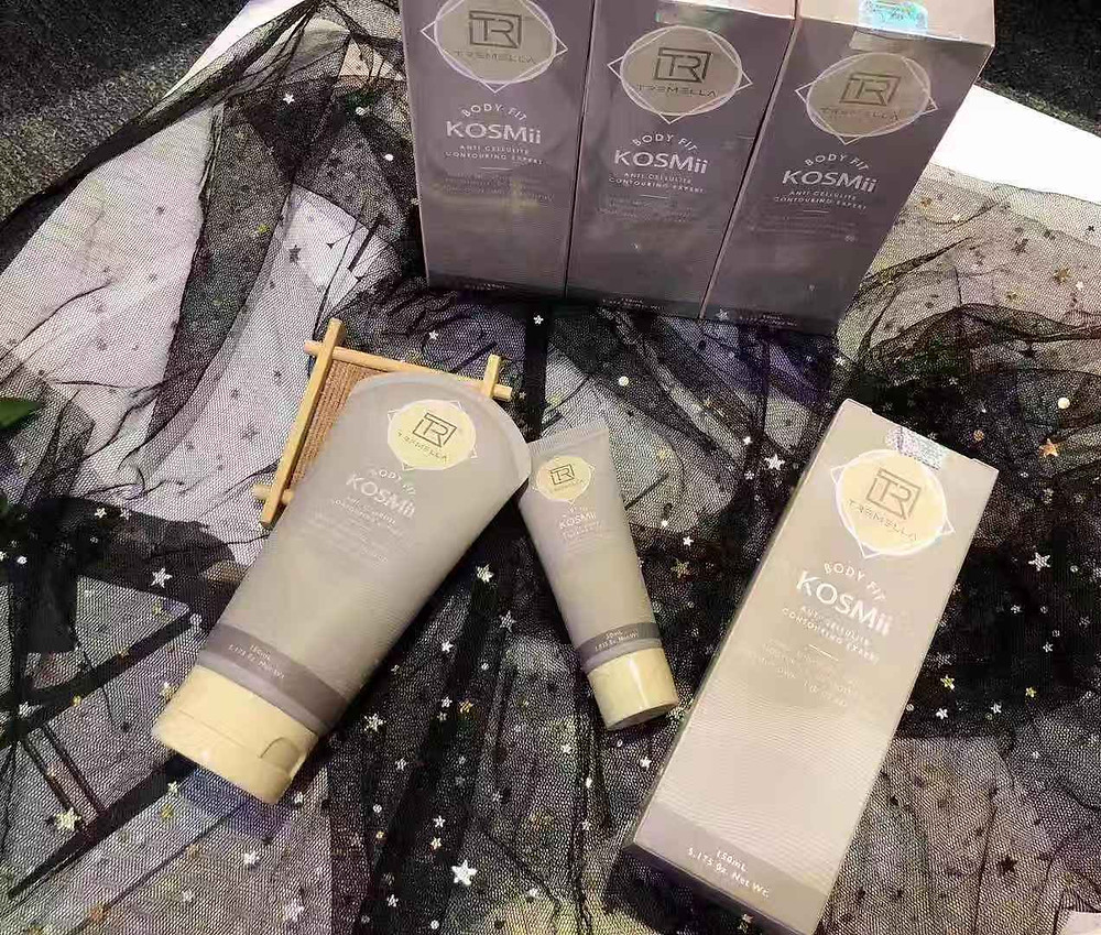 KOSMII帮助你瘦身,溶脂,美白,保湿, 完全不辣, 不热, 涂抹舒服感, 取代身体乳