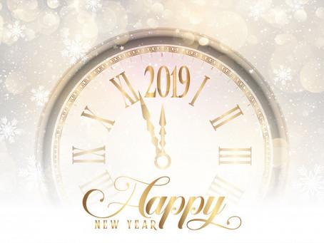 Um 2019 maravilhoso para vocês!