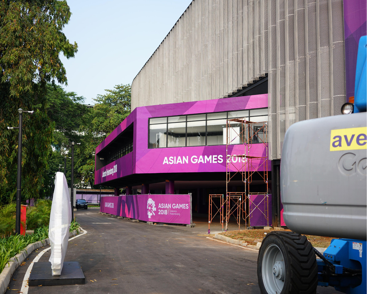 Asian Games 2018 GBK Beautification - Volley Ball Hall by Quickprint