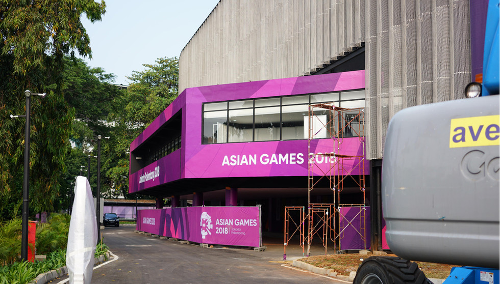 Asian Games 2018 - GBK Beautification Volley Ball Hall