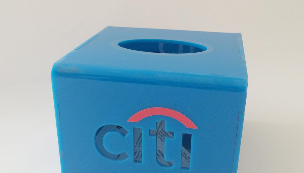 POP Acrylic Custom - CITI Bank Tissue Box