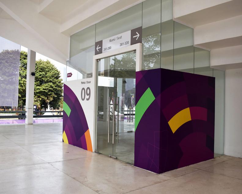 Asian Games 2018 GBK Beautification - Venue Entrance Door by Quickprint