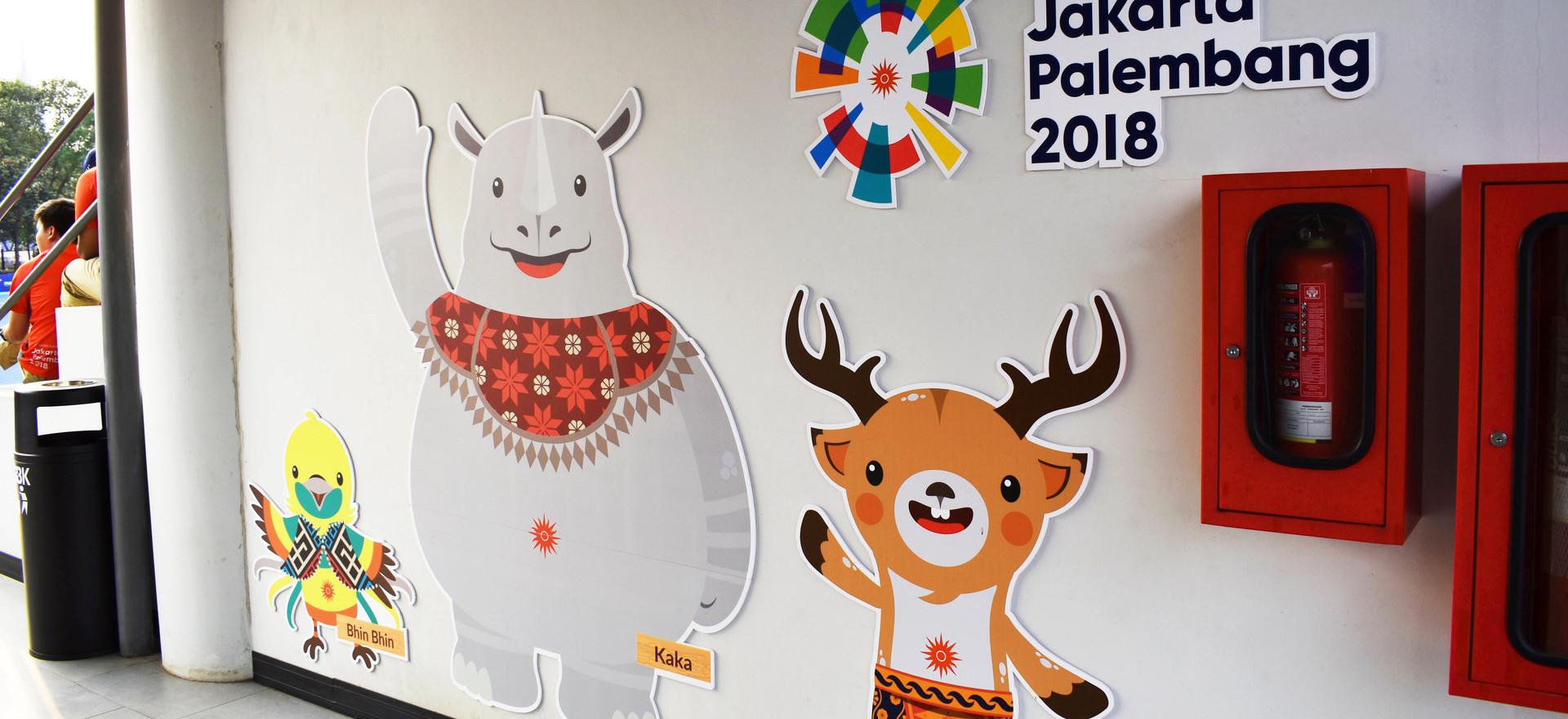 Asian Games 2018 GBK Beautification - Binbin, Kaka, Atung PVC Board/Forex Display