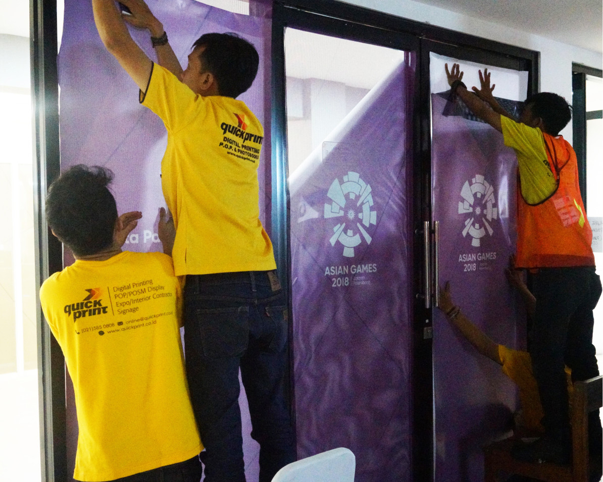 Asian Games 2018 GBK Beautification - Quickprint Installation Team