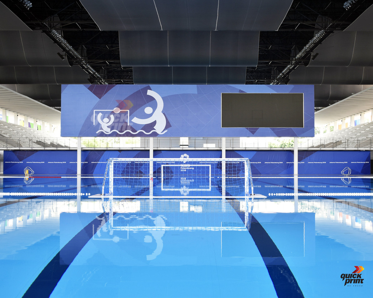 Asian Games 2018 GBK Beautification - Aquatic Centre by Quickprint