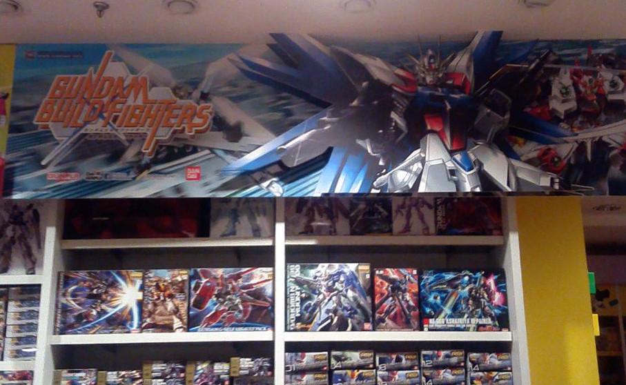POP Shelf Display - Gundam Build Fighters