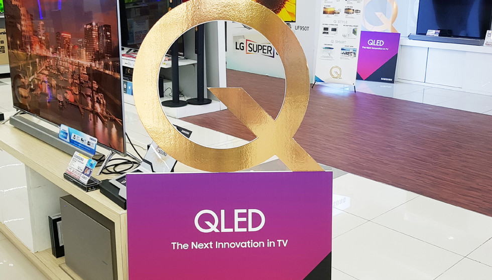 POP Foamboard Display - Samsung QLED TV