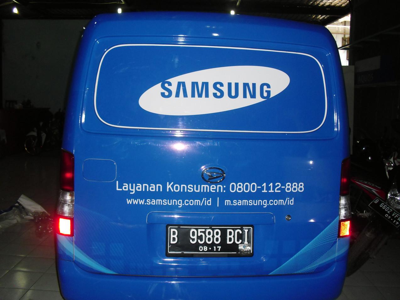 Car Branding - Samsung by Quickprint
