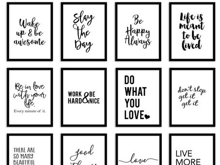 Templat Kutipan untuk Dinding Anda