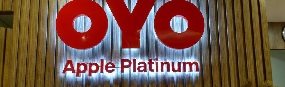 OYO Apple Platinum Receiptionist Signage