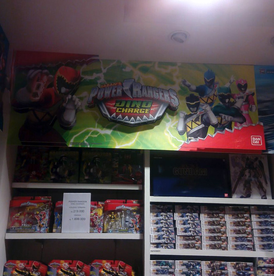 POP Shelf Display - Power Rangers