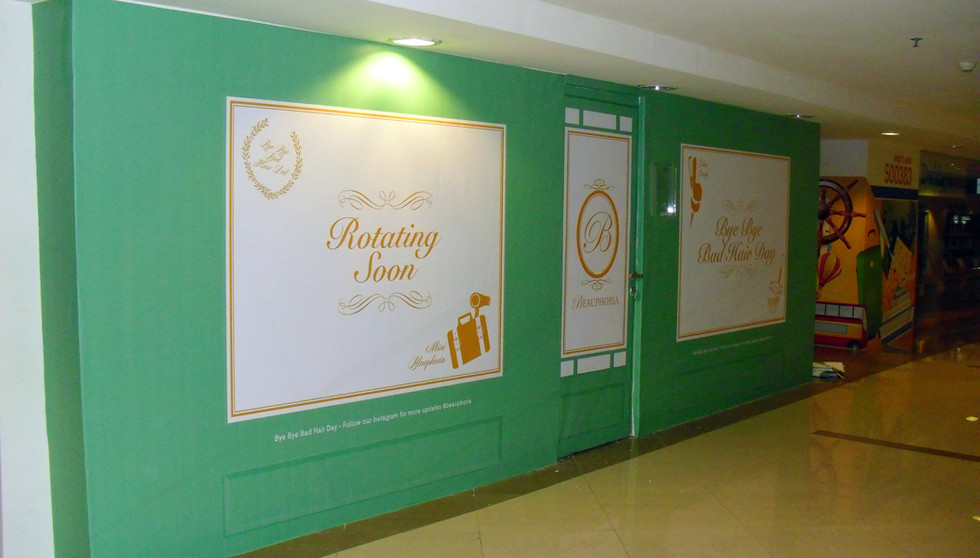 Shopping Mall Maintenance - Wall Partition Covering