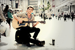 Smart Musician with guitar