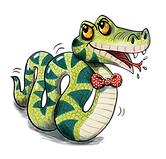 Slimey Sydney the snake illustration