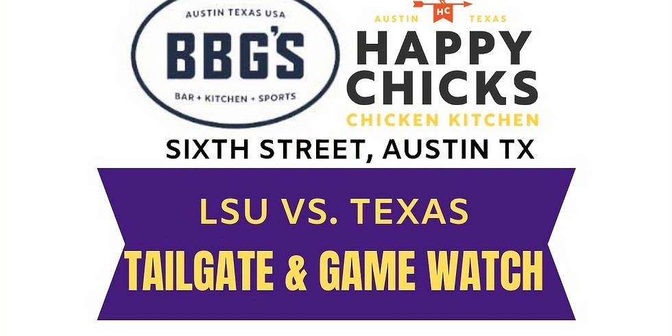 Tailgate & Watch Party at BBG's + Happy Chick's
