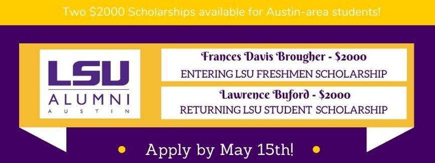 LSU Austin Scholarships - Deadline May 1
