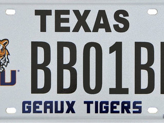Texas Tigers License Plate