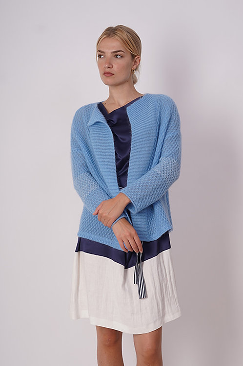 Cardigan Mohair in Blue