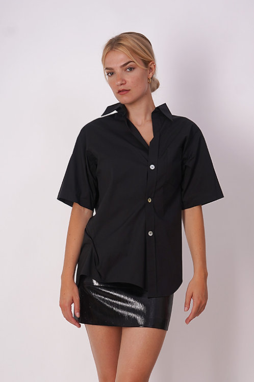 Deconstructed Shirt in Black