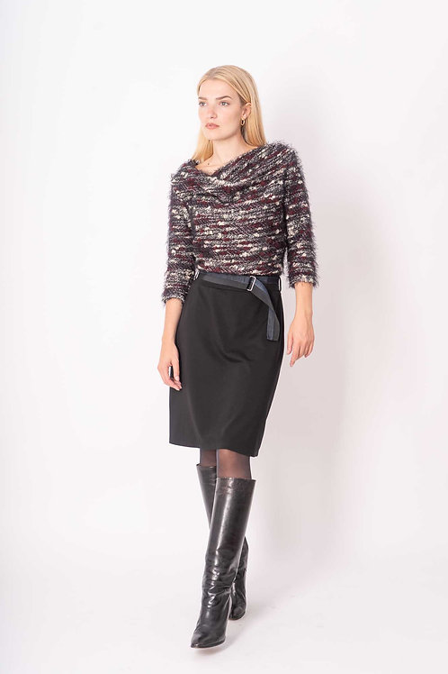 Dress in Burgundy/Black