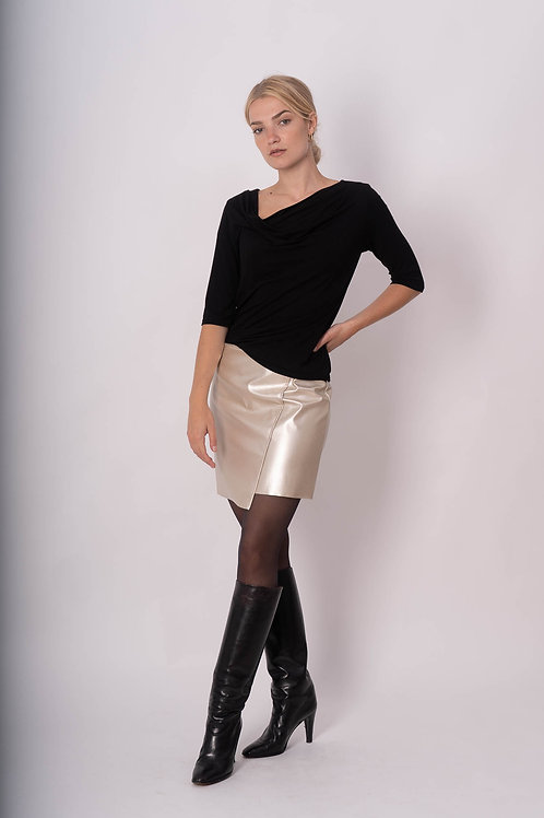 Silver skirt  in Vegan leather