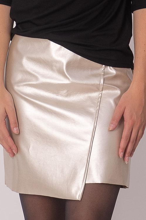 Silver skirt  in Vegan leather