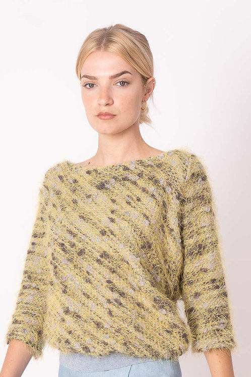 Asymmetrical Pull in Yellow with Ribbing