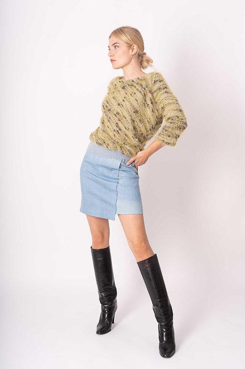 Jeans Skirt in Skyblue or dark grey