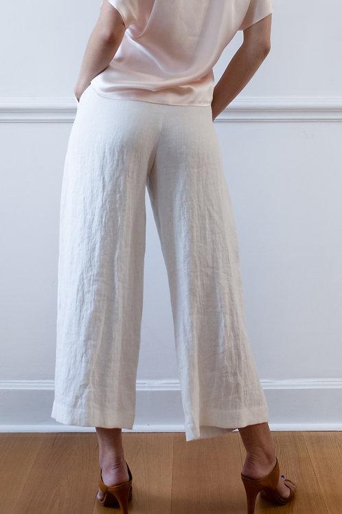 Linnen pants in White