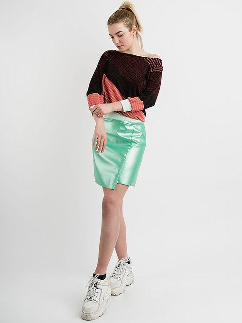 Skirt in Metal Mint
