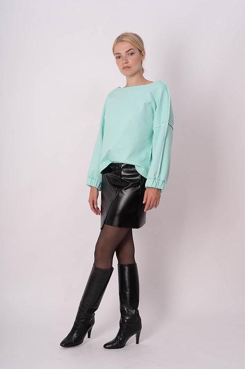 Skirt in Black vegan leather