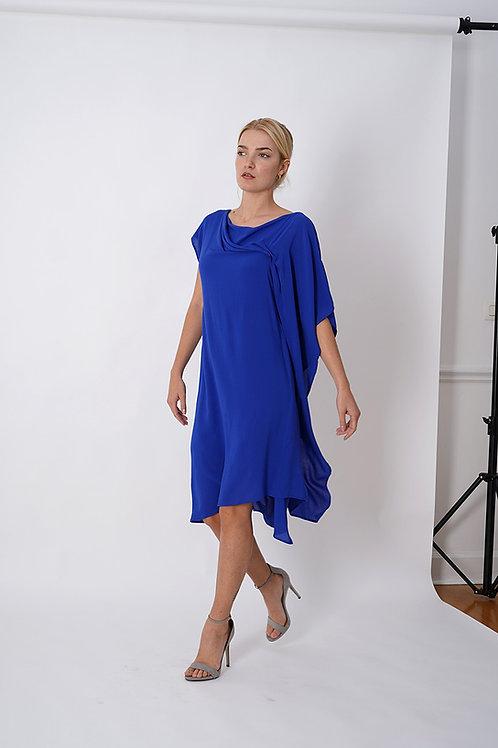 Asymmetric Dress in Royal Blue or Black